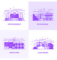 flat line purple designed concepts 17 vector image