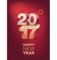 Happy New Year celebration Vertical format vector image