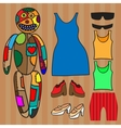 doll with clothes set vector image