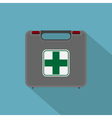 flat first aid set vector image