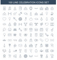 100 celebration icons vector image vector image