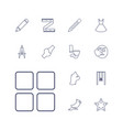 13 drawing icons vector image vector image