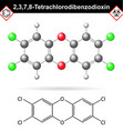 2378- Dibenzodioxin - widespread environmental vector image vector image
