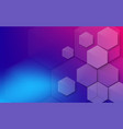 abstract colorful hexagons background technology vector image vector image