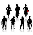 actors in costumes 3 vector image vector image