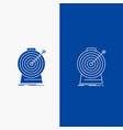 aim focus goal target targeting line and glyph vector image vector image