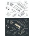arduino sensors set drawings vector image vector image