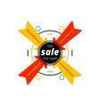 arrows pointing at sale writing vector image