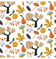 autumn forest seamless patternautumn vector image