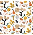 autumn forest seamless patternautumn vector image vector image