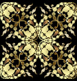 baroque gold seamless pattern antique ornamental vector image