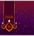beautiful happy diwali diya decoration background vector image vector image