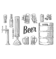 beer set with two hands holding glasses mug vector image vector image