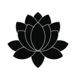 Blue lotus flower icon simple style vector image vector image