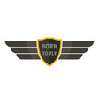 born to fly icon logo flat style vector image vector image