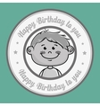 boy cartoon happy birthday vector image