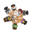 Business people sitting on table vector image vector image