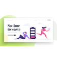 businesspeople lack time website landing page vector image vector image