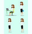 businesswoman and businessman vector image vector image