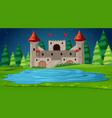 castle scene at night vector image vector image