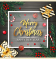 christmas background with elements vector image vector image