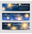 Christmas banners set with shining elements vector image