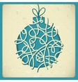 Christmas decorations in vintage style vector image vector image
