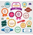 Color sale labels set vector image vector image