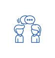 communication line icon concept communication vector image