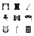 Concert icons set simple style vector image vector image