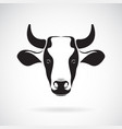 cow head design on white background wild vector image vector image