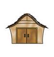 Drawing manger house wooden nativity design vector image