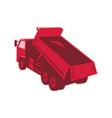 dump dumper truck dumping load rear vector image vector image
