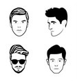 face sketch icons vector image vector image