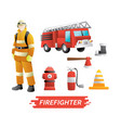 firefighter design element vector image