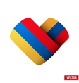 Flag icon in the form of heart I love Armenia vector image vector image