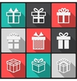 gift box white icons vector image vector image