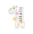 giraffe logo origina animal badge easy editable vector image vector image