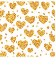 gold sand on heart shape seamless background vector image vector image