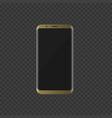 golden smartphone with modern design vector image