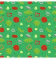 Green salad seamless pattern vector image vector image