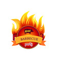 grill barbecue party hot icon vector image