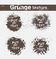 grunge texture background set banner collection vector image vector image