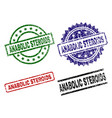 grunge textured anabolic steroids stamp seals vector image vector image