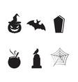 halloween icon design for holiday vector image