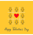 Happy Valentines Day Love card Man Woman contour vector image vector image