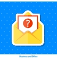 Icon of envelope with message vector image vector image