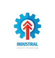 industrial gear arrow - business logo design vector image