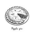 ink sketch apple pie