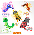 Insects various types set 2 vector image